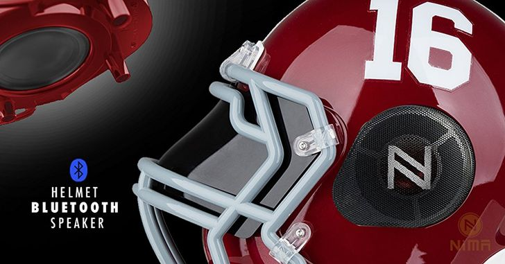 [Update: Winners] Giveaway: Win one of three NCAA football helmet shaped Bluetooth speakers from Nima Athletics - total value $700