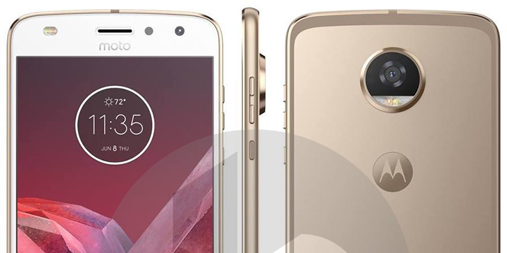 Moto Z2 Play leaked, looks pretty much like the current model