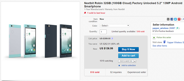 [Deal Alert] Get a Nextbit Robin for $136.99 ($163 off) from eBay