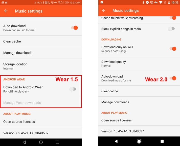 [Annoying] Play Music on Wear 2.0 does not support sideloading music from your phone