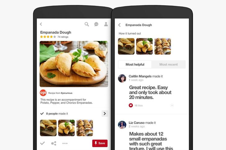 Pinterest adds new features for recipe discovery, filters, and recommendations