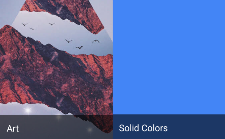 Google Wallpapers now has two entirely new categories