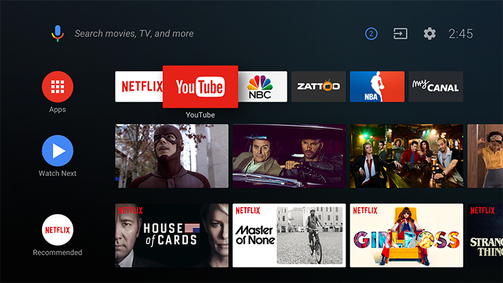 Android TV is getting a new launcher with Android O