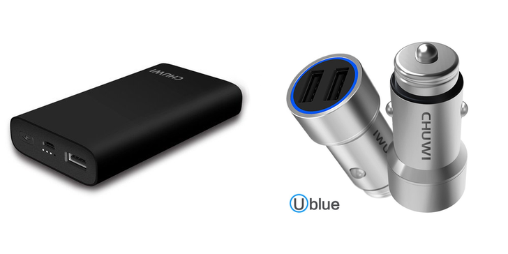 [Update: Winners, coupons for everyone else] Giveaway: 15 lucky readers will win a premium car charger and 10,050 mAh portable battery with QC3.0 input/output ($41 total value) from CHUWI [US]