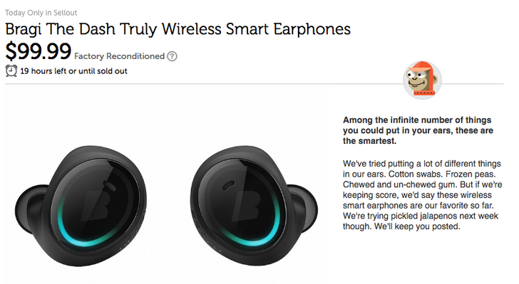 [Update: Groupon] Deal Alert: Bragi's truly wireless earbuds, The Dash, are $100 on Woot for a refurbished pair ($200 off)