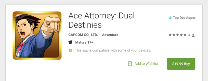 [No Objection] Capcom's Ace Attorney: Dual Destinies is out on the Play Store