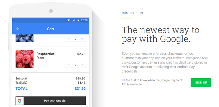 Google is working on a new payment API for the web and mobile