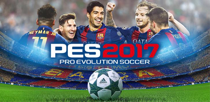 KONAMI's PES2017 Pro Evolution Soccer fast breaks onto the Play Store
