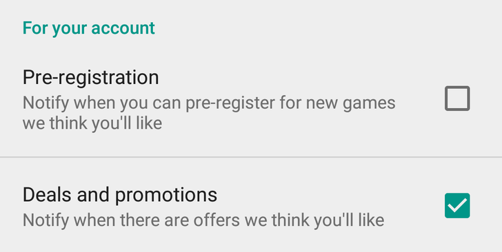 Google Play Store gets 2 new notification options for pre-registrations and promotions
