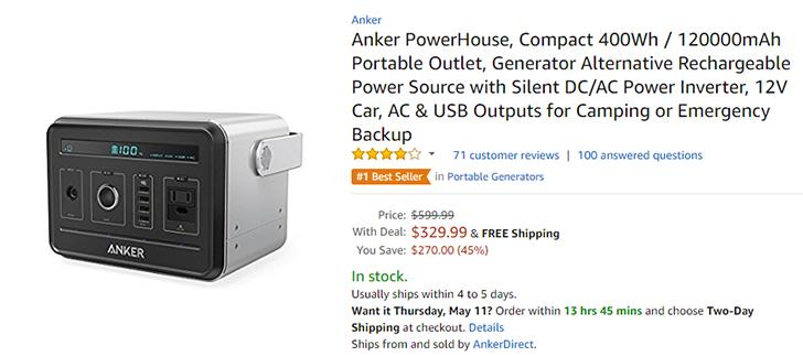[Deal Alert] Anker's massive 120,000mAh PowerHouse battery is $329 ($170 off) on Amazon