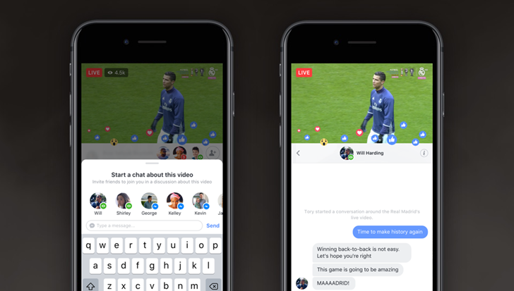 Facebook Live gets new Live Chat With Friends, Live With features