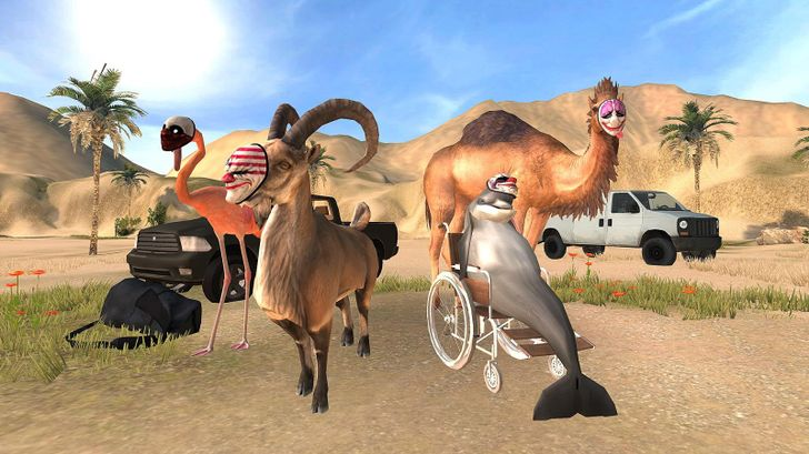 Goat Simulator PayDay arrives on Android in a stolen car