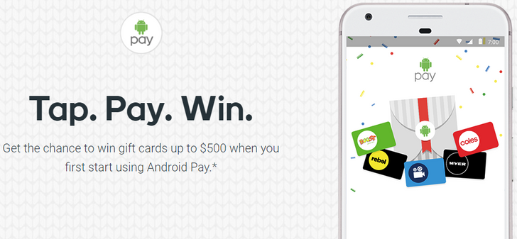 Google is running a massive Android Pay promo in Australia with 200,000 prizes worth $1.6 million