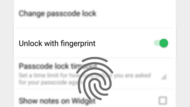 Evernote's latest beta adds fingerprint support
