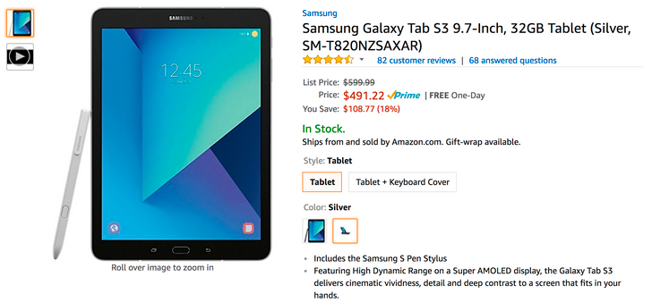 [Deal Alert] Get a Galaxy Tab S3 for as little as $491.22 ($100+ off) from multiple retailers