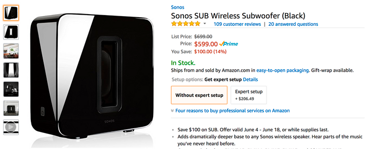 [Deal Alert] Sonos SUB gets a rare discount to $599 ($100 off) across the web until June 18th