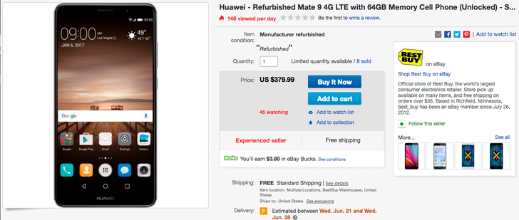 [Deal Alert] Get a refurbished Huawei Mate 9 for just $379.99 ($220 off) from Best Buy
