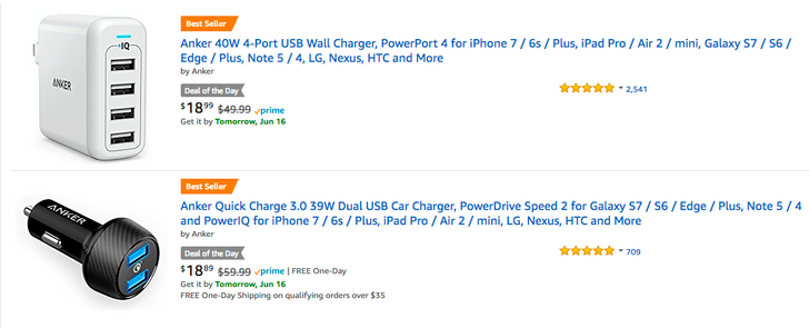 [Deal Alert] Amazon Goldbox Deal of the Day offers savings on Anker Quick Charge 3.0 chargers and more