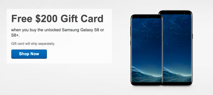 [Deal Alert] Get a free $200 Best Buy gift card with the purchase of an unlocked Galaxy S8 or S8+