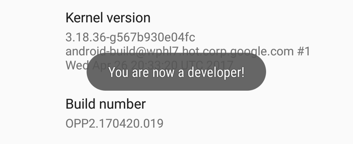Android O feature spotlight: Enabling developer options requires your device's passcode