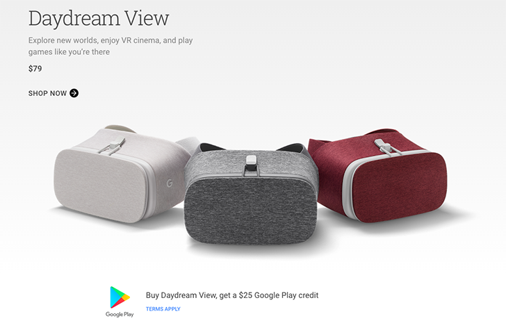 [Deal Alert] Buy a Daydream View from the Google Store and get $25 of Google Play credit