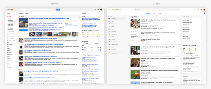 Google News desktop site gets a Material redesign, with new Story Cards and more customization options