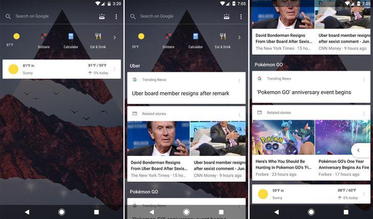 Google is testing a wild new transparent Google Now pane