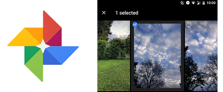 Some Google Photos users are getting a new sharing UI with photo selection and a button for sharing to family groups