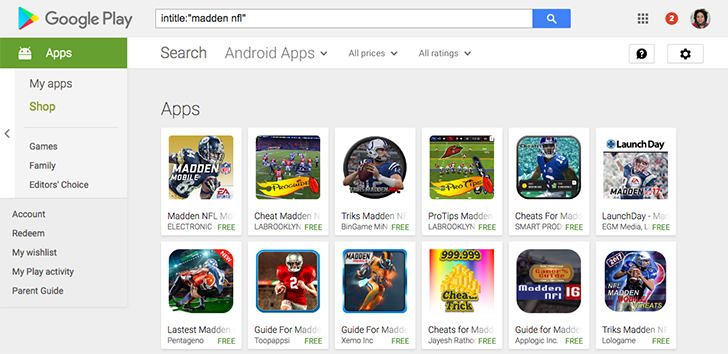 Many years later, search operators for publisher names and titles are working again in the Play Store