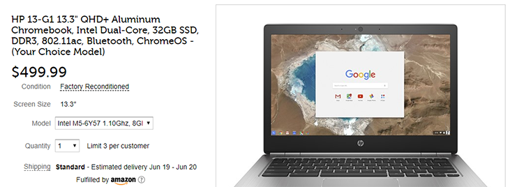 [Deal Alert] Three HP Chromebooks are heavily discounted at Woot, including the 8GB RAM 13-G1 for $499 ($300 off)