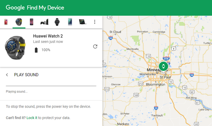 Reminder: You can find your Android Wear watch from your phone with Google's Find My Device