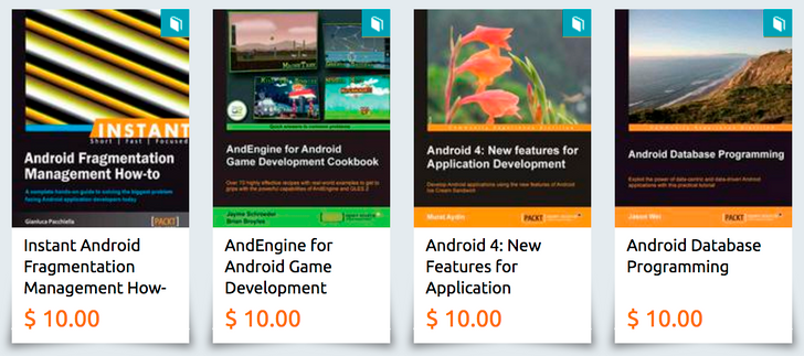 [Deal Alert] Packt's eBooks are all on sale for just $10 each, including Android development ones