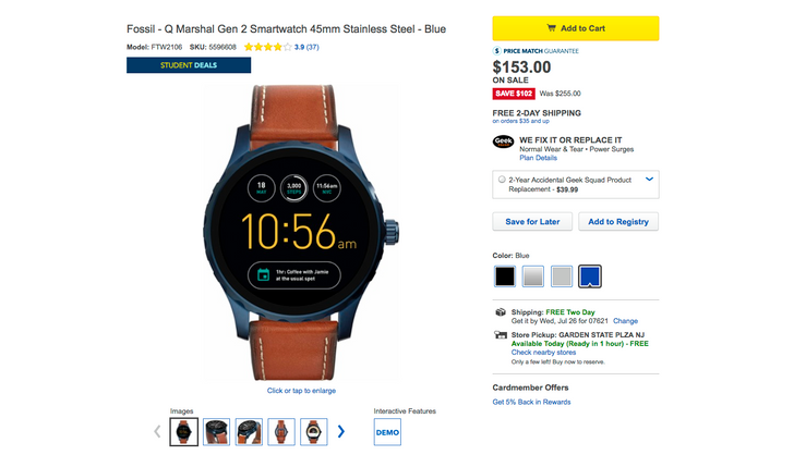 [Deal Alert] Best Buy has 2nd-gen Fossil Q Marshal, Q Wander, and Q Founder for as little as $153 (40% off)
