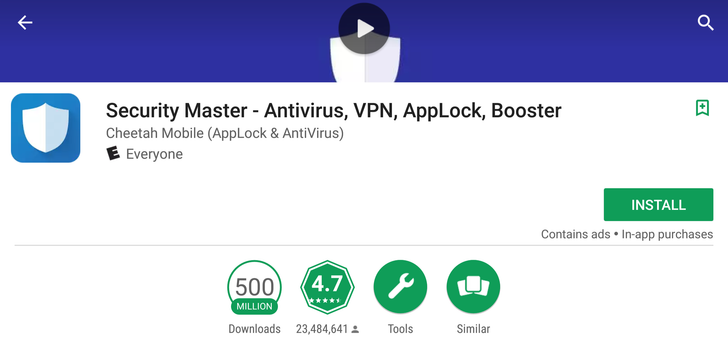 Cheetah Mobile's Security Master app hits 500 million installs on the Play Store