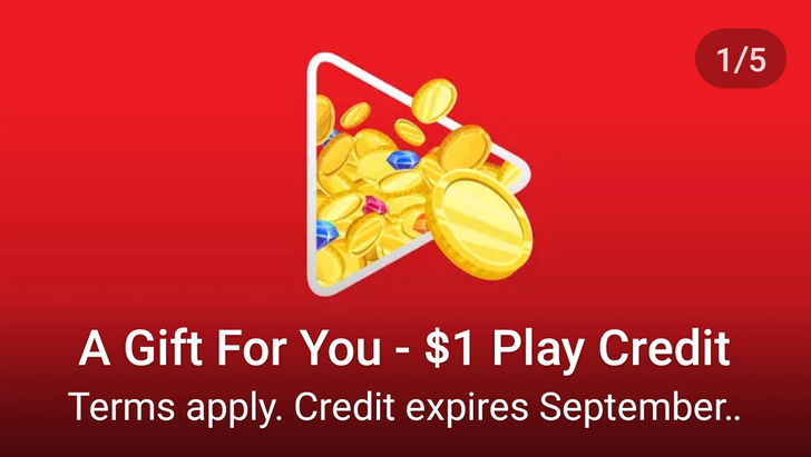 [Free Alert] Google is handing out free $1 Google Play credits to select accounts