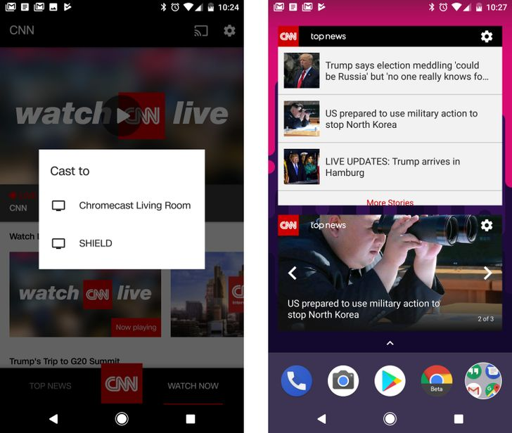 CNN app update reintroduces widgets and adds Chromecast streaming for live TV