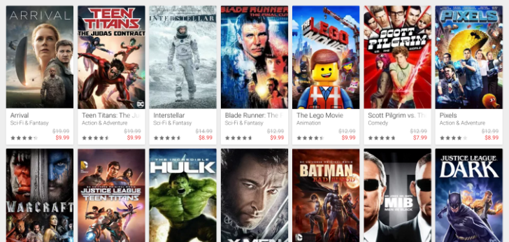 [Deal Alert] 51 movies are on sale at Google Play for Comic-con