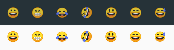 "Android O feature spotlight: Google's ""grinning face with smiling eyes"" emoji no longer looks constipated"