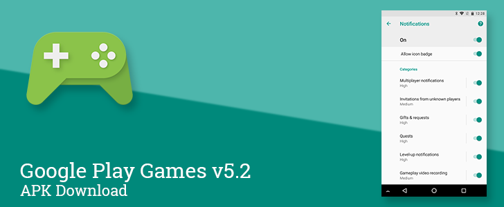 Play Games v5.2 adds several notification channels, adaptive icons, and support for app data backup [APK Download]