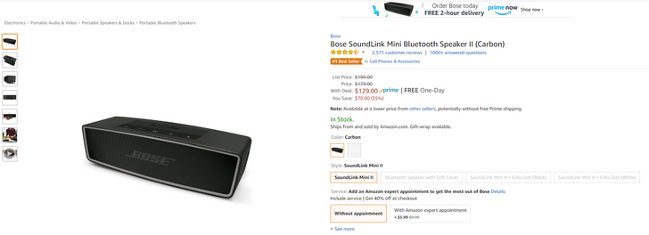 [Deal Alert] Please your ears with a Bose SoundLink Mini II for $129 ($70 off)
