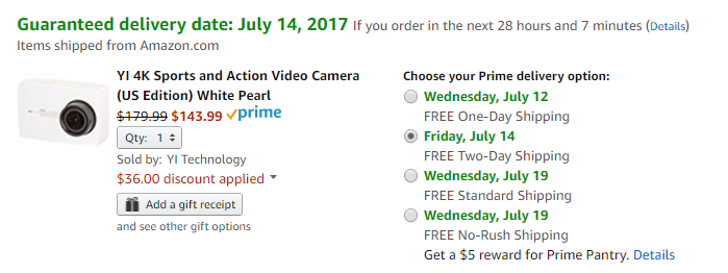 [Deal Alert] Amazon has the white Yi 4K action camera for $143.99 ($55 off)