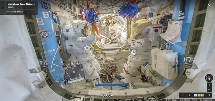 You can now take a tour of the International Space Station in Google Maps' Street View