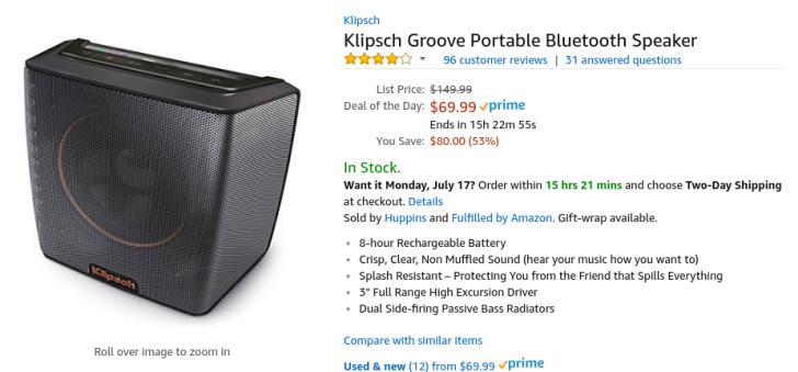 [Deal Alert] Klipsch Groove Bluetooth speaker is $69.99 ($80 off) on Amazon