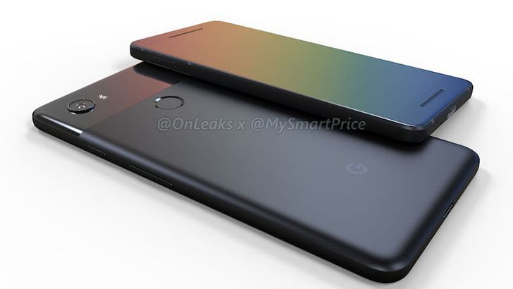 Renders of the upcoming Pixel 2 and Pixel 2 XL confirm small bezels, camera bump, and no 3.5mm jack