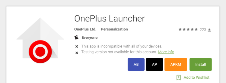 OnePlus Launcher shows up again on the Play Store
