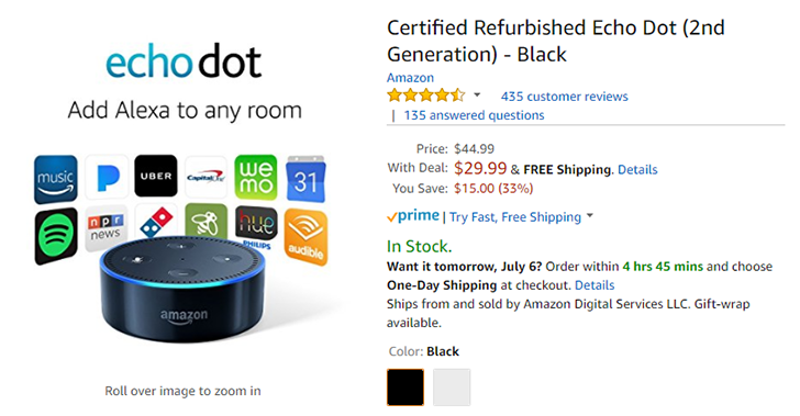 [Deal Alert] Refurbished Echo Dot is down to $29.99 ($15 off) on Amazon Prime, early Prime Day deals available for Alexa users
