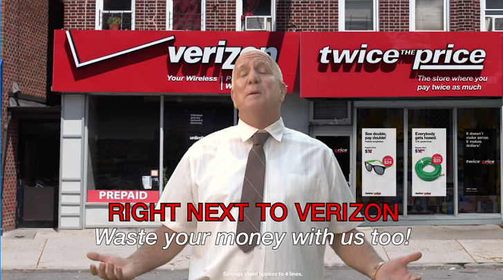 Sprint mocks Verizon's prices with hilarious 'Twice the Price' ad campaign
