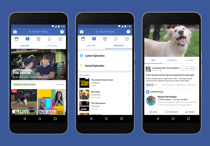 Facebook introduces new video platform Watch in a bid to compete with YouTube