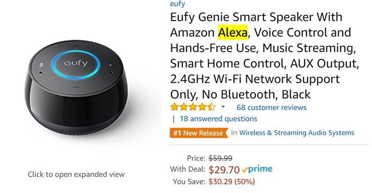 [Deal Alert] Pick up a Eufy Genie Alexa-powered smart speaker for less than $30 at Amazon ($5 off)