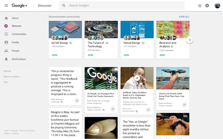 Google+ gets a new Discover tab to help you find relevant conversations and communities to join